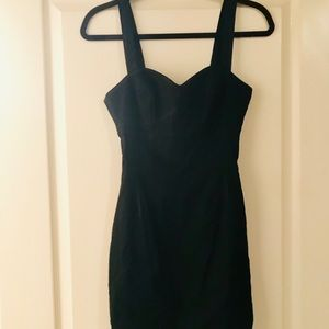 bebe Black Fitted Knee Length Cocktail Dress